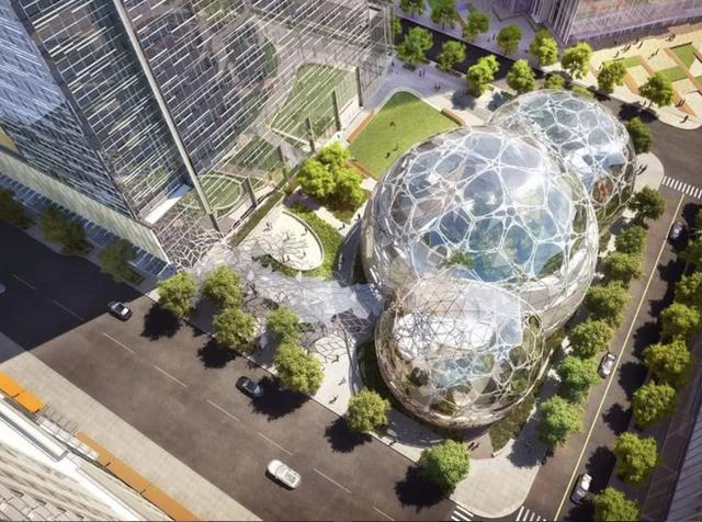 """""""水晶球""""办公楼:自然与现代感的结合"""