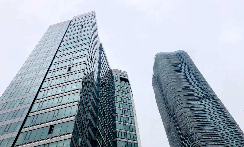2021年2月份上海各区办公物业租赁市场热力指数TOP10