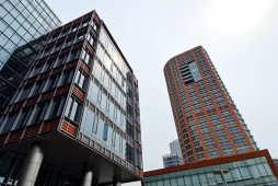 2021年8月份上海各区办公物业租赁市场热力指数TOP10